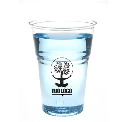 Bicchiere Birra Compostabili Personalizzati - tacca 400 cc
