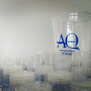 Bicchieri acqua birra vino biodegradabili compostabili personalizzati