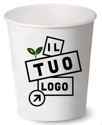 bicchiere in carta stampato con logo
