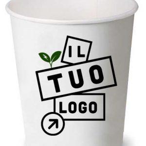 Offerta bicchieri take away caffé e bar personalizzati, completi di coperchi. Stampa e consegna celere, minimo d'ordine 2000pz