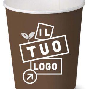 bicchiere in carta biodegradabile personalizzato
