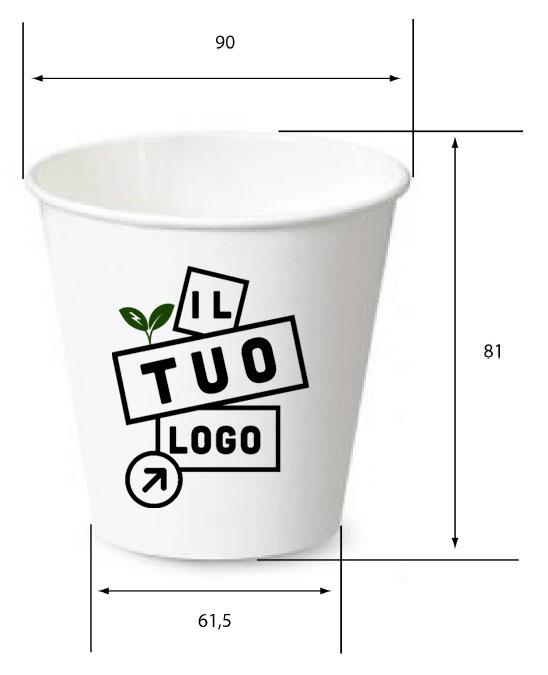 bicchiere in carta personalizzabile
