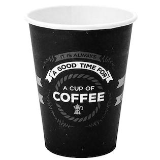 bicchieri neri stampati con il tuo logo